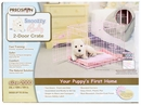"Precision Pink SnooZZy Baby Crate 2000 24x18x19"" - Two Door"