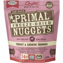 Primal Freeze Dried Turkey & Sardine Dog Food (14 oz)