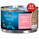 Purina Pro Plan Focus - Salmon & Tuna Entrée Classic Canned Adult 11+ Cat Food (24x3 oz)