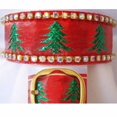 Rhinestone Dog Collars - Christmas Tree Glitter