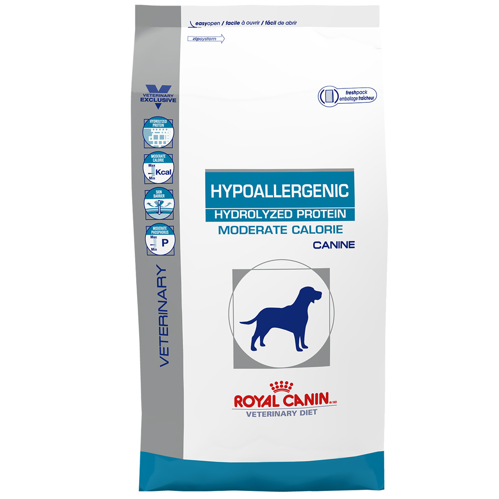 royal canin canine hypoallergenic hydrolyzed protein moderate calorie dry 24 2 lb. Black Bedroom Furniture Sets. Home Design Ideas