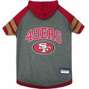 San Francisco 49Ers Hoody Dog Tee Shirt - Large