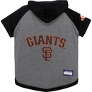 San Francisco Giants Dog Hoody Tee Shirt - XSmall
