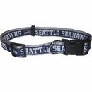 Seattle Seahawks Dog Collar - Ribbon (Large)