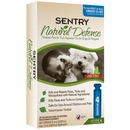 Sentry Natural Defense Flea & Tick Squeeze-On for Dogs under 15 lbs (4 pack)