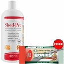 Shed-Pro for Dogs (32 fl oz) + BONIES Hip & Joint Health MINIS 2 BONE PACK (0.7 oz)