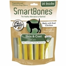 SmartBones Chicken Dog Chews - Skin & Coat (16 Sticks)