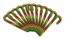 Tri-Color Munchy Rawhide Candy Canes (12 PACK)