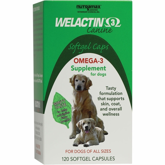 Welactin for dogs softgel 120 caps for Can you give your dog human fish oil capsules