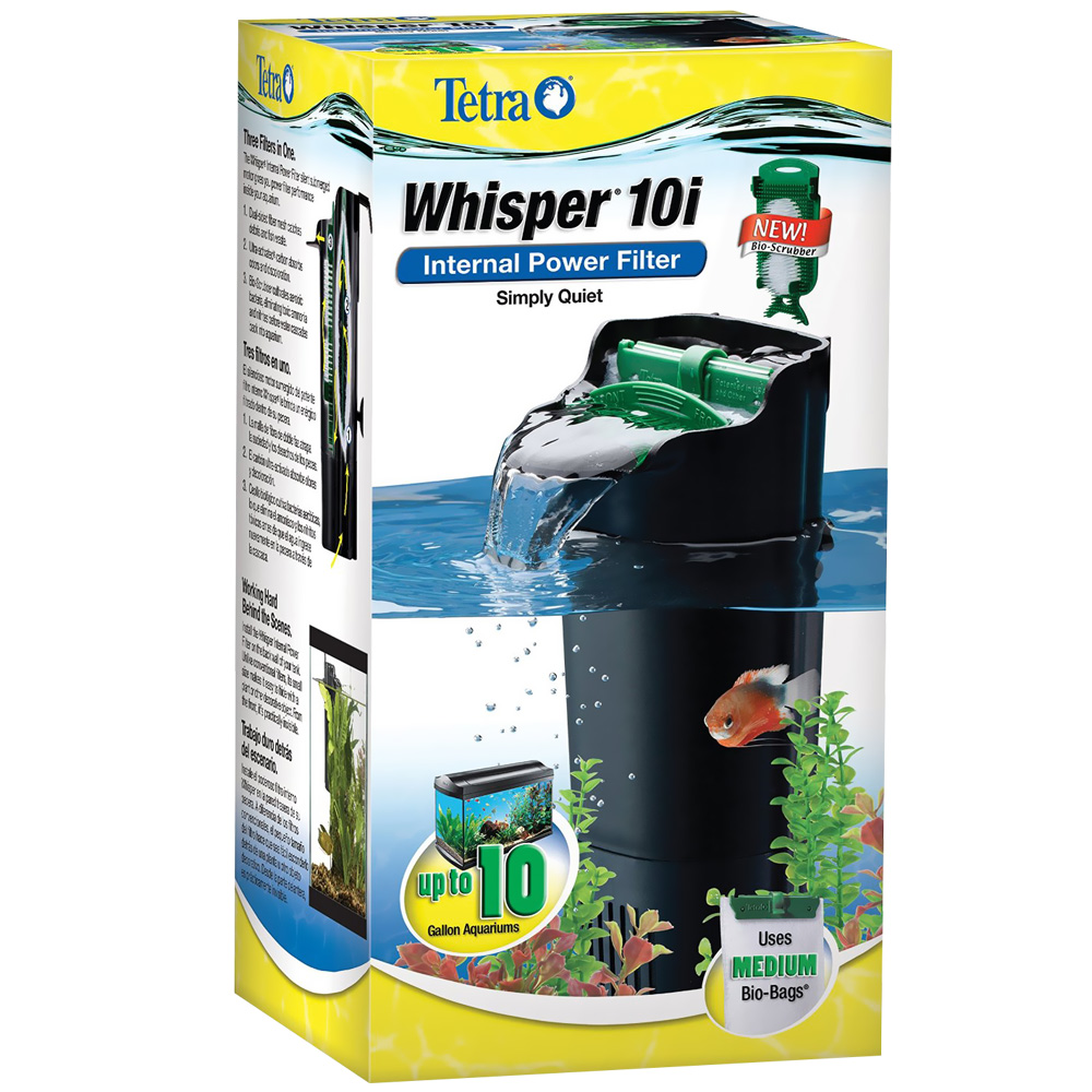 Whisper in tank filter 10i upto 10 gal for 10 gallon fish tank with filter