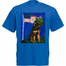 Women's T-Shirt - Ori Bengal Exclusive - K-9 Veterans Day - Large (Royal)