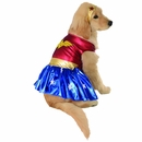 Wonder Woman Dog Costume - Small