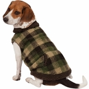 Zack & Zoey Berber Plaid Vest - Green (Large)