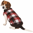 Zack & Zoey Berber Plaid Vest - Orange (Medium)
