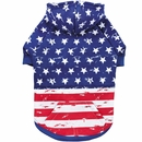 Zack & Zoey Distressed American Flag Hoodie - Large