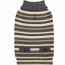 Zack & Zoey Elements Derby Stripe Sweater - Green (Medium)
