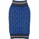 Zack & Zoey Elements Geometric Sweater - Blue (XSmall)