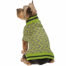 Zack & Zoey Elements Geometric Sweater - Green (XSmall)