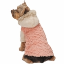 Zack & Zoey Elements Mixed Faux Fur Jacket - Pink (Small)