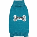Zack & Zoey Elements Sequin Bone Sweater - Blue (Small)