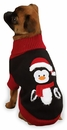"Zack & Zoey Holiday Penguin Sweaters - L (20"")"