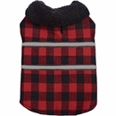 Zack & Zoey Plaid Reversible Thermal Blanket Coat - XLarge