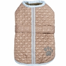Zack & Zoey Quilted Thermal Nor'easter Coat - Almond (Small)