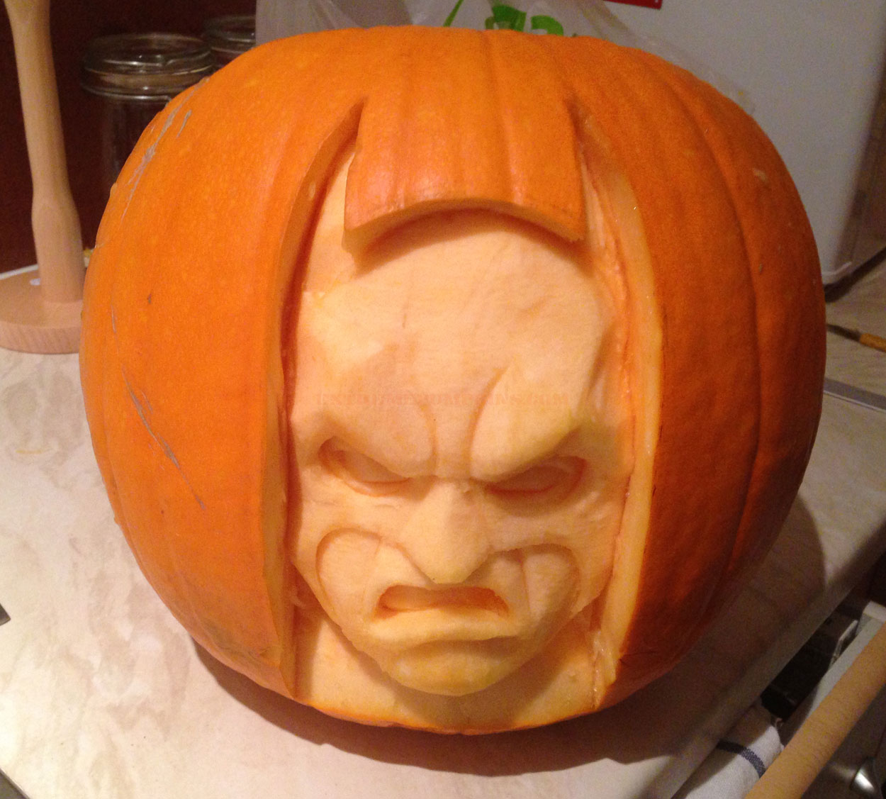 A great batman pumpkin