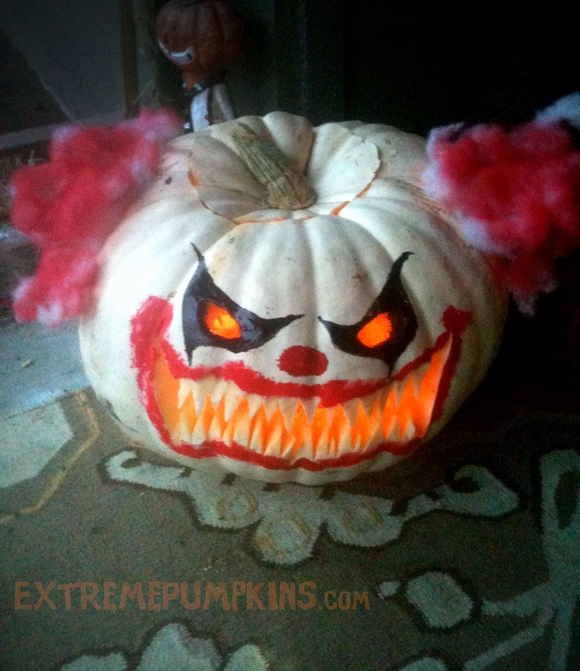Another killer clown pumpkin for