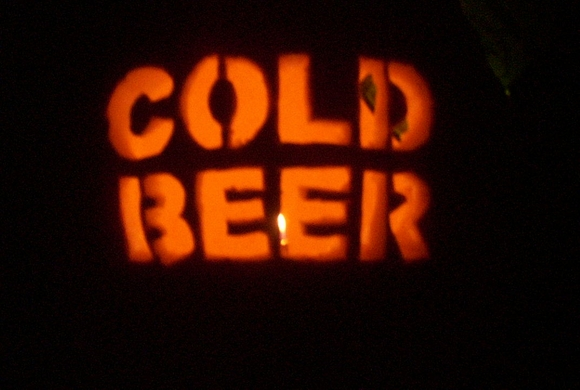 Cold beer pumpkin by greg Pumpkin carving beer