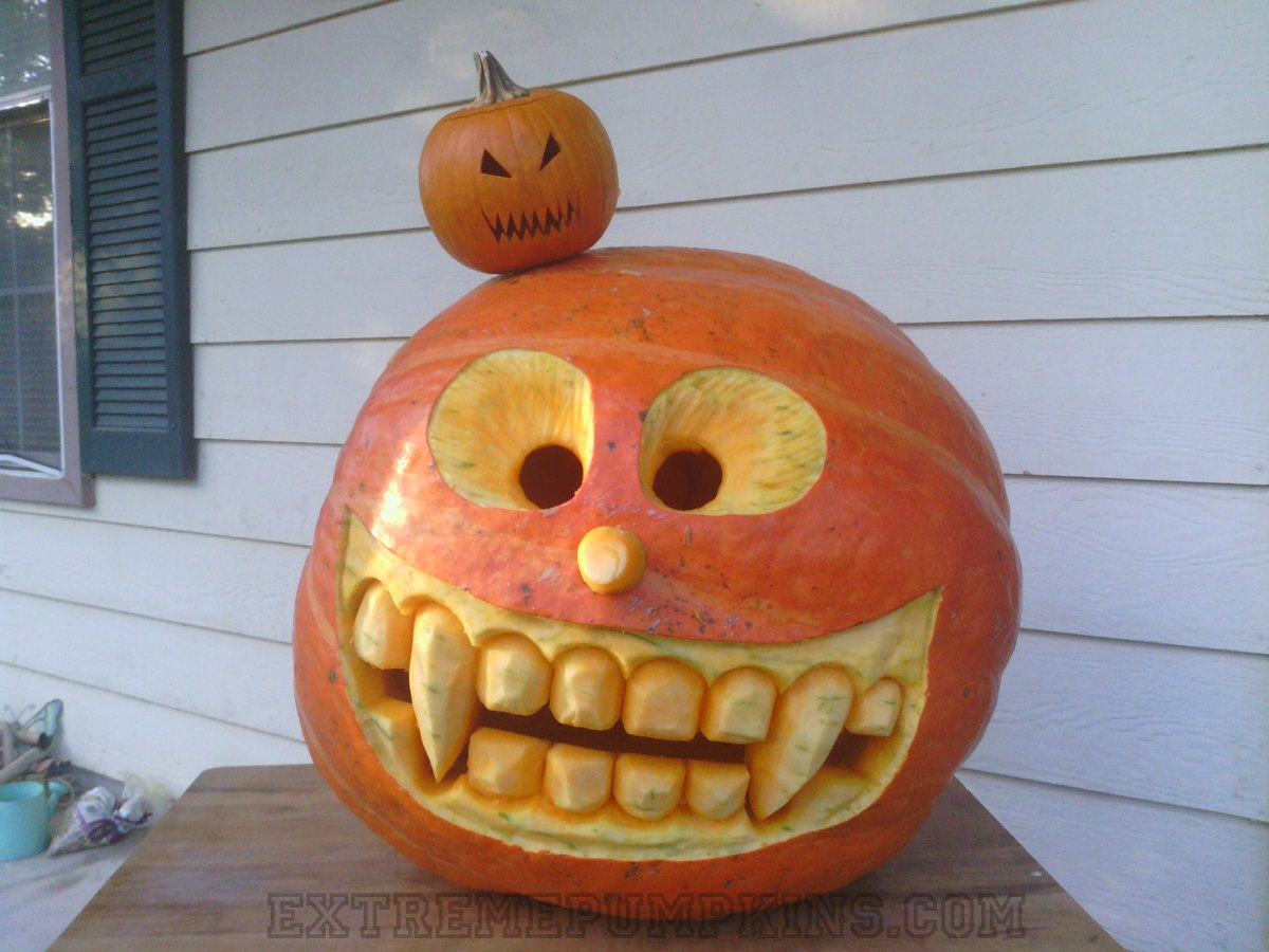 crazy eyes pumpkin