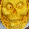 Creepy Skull Pumpkin