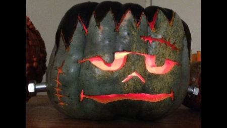 The Green Frankenstein Pumpkin