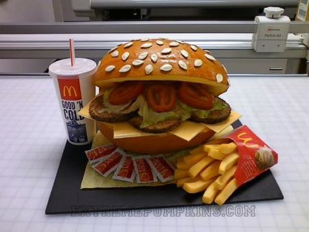The Burger and Fries Pumpkin