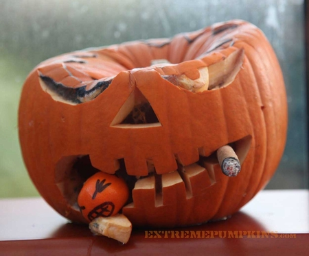 The Cigar Chomping Pumpkin