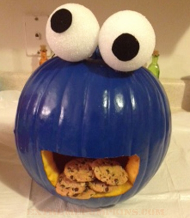 The Cookie Monster Pumpkin