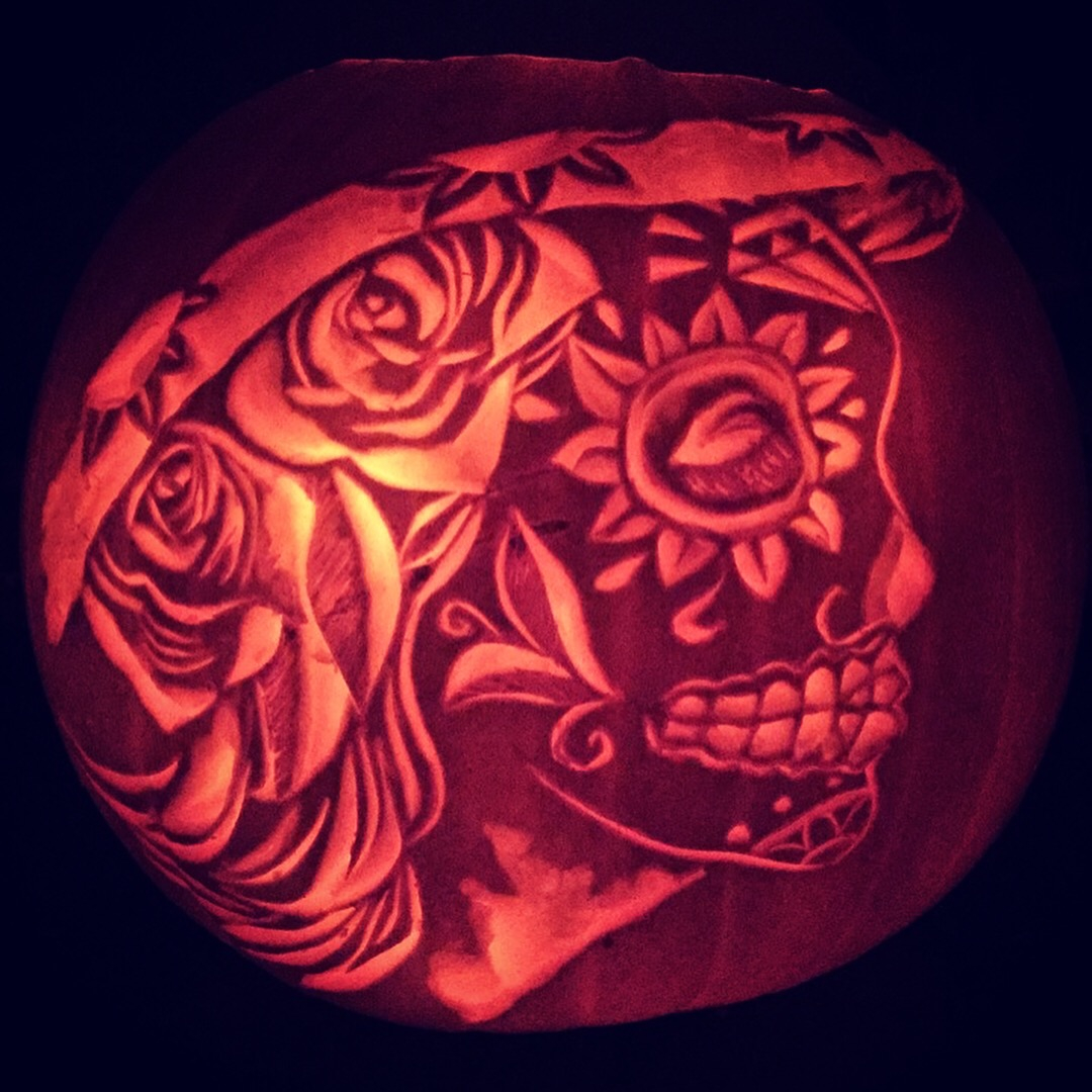 the day of the dead pumpkin rh extremepumpkins com day of the dead pumpkin carving easy day of the dead pumpkin carving templates