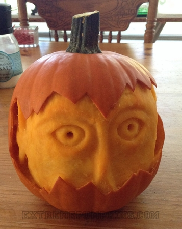 The Face In The Pumpkin