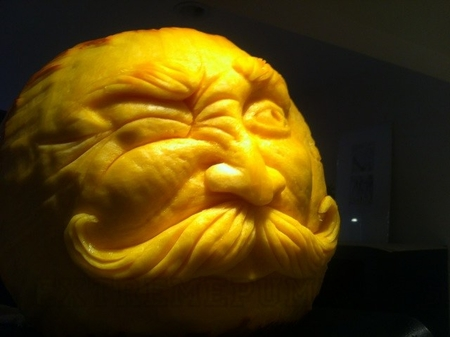 The Mustache Dude Pumpkin