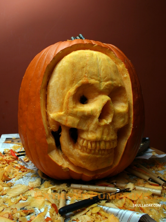 The skull a day pumpkin
