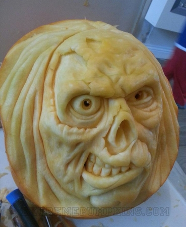 The Skull With Decaying Flesh Pumpkin