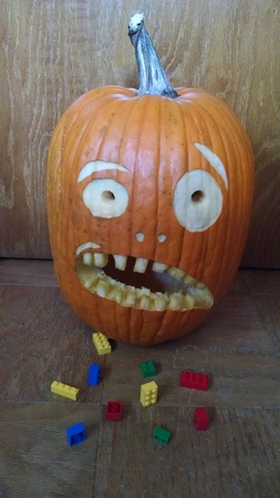 The Startled Parent Pumpkin