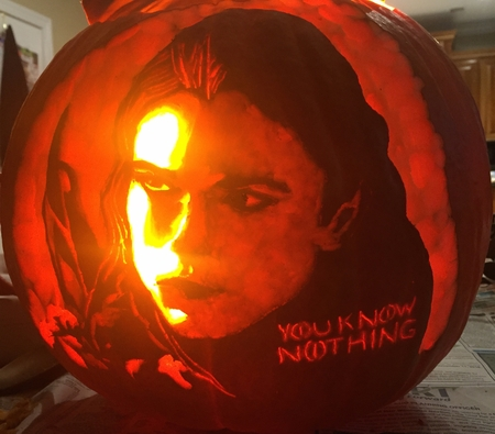 This Year's Michael Jackson Pumpkin