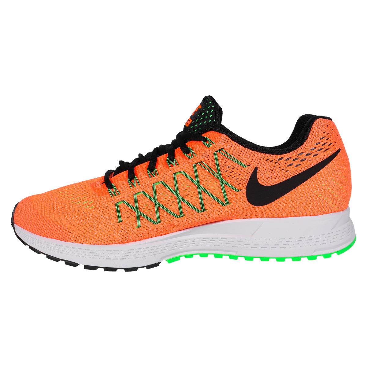 nike air zoom pegasus 32 men 39 s training shoes total orange ghost green black. Black Bedroom Furniture Sets. Home Design Ideas
