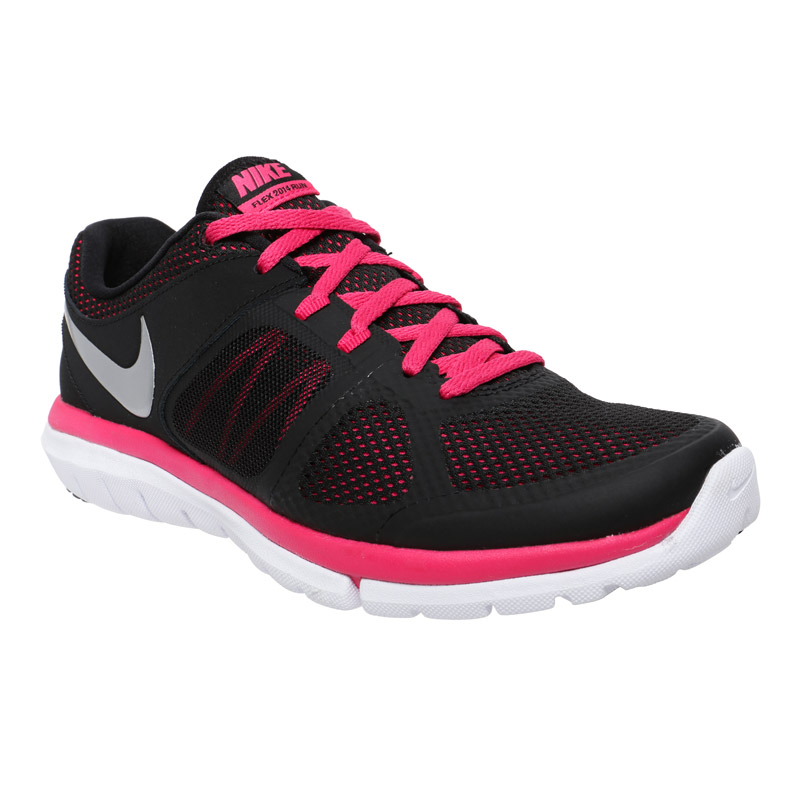 nike black pink running shoes