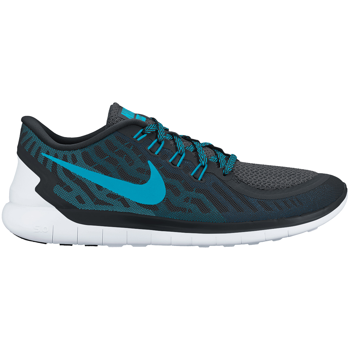 nike free 5 0 men 39 s training shoes black dark electric blue blue lagoon. Black Bedroom Furniture Sets. Home Design Ideas