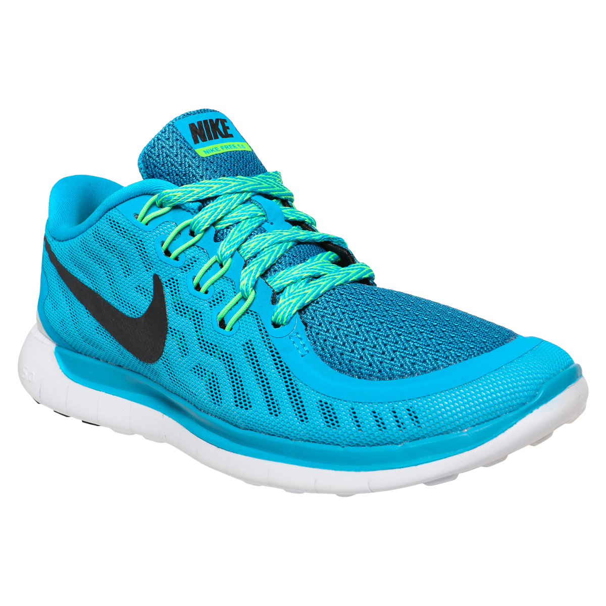 nike free 5 0 women 39 s training shoes blue lagoon volt green black. Black Bedroom Furniture Sets. Home Design Ideas