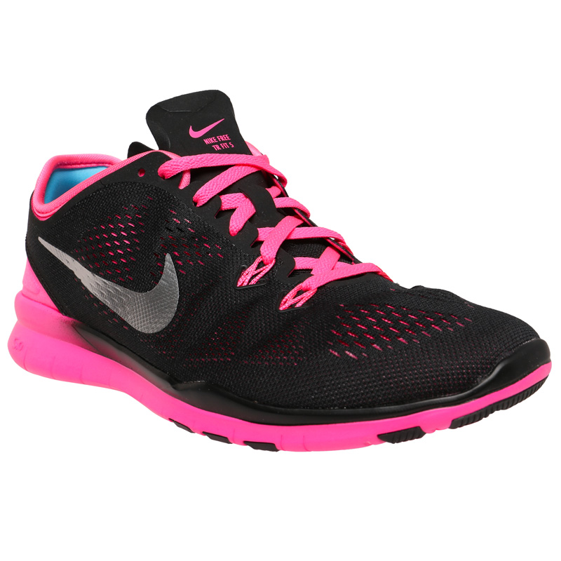 Nike Free TR 5 Women's Training Shoes - Black/Pink