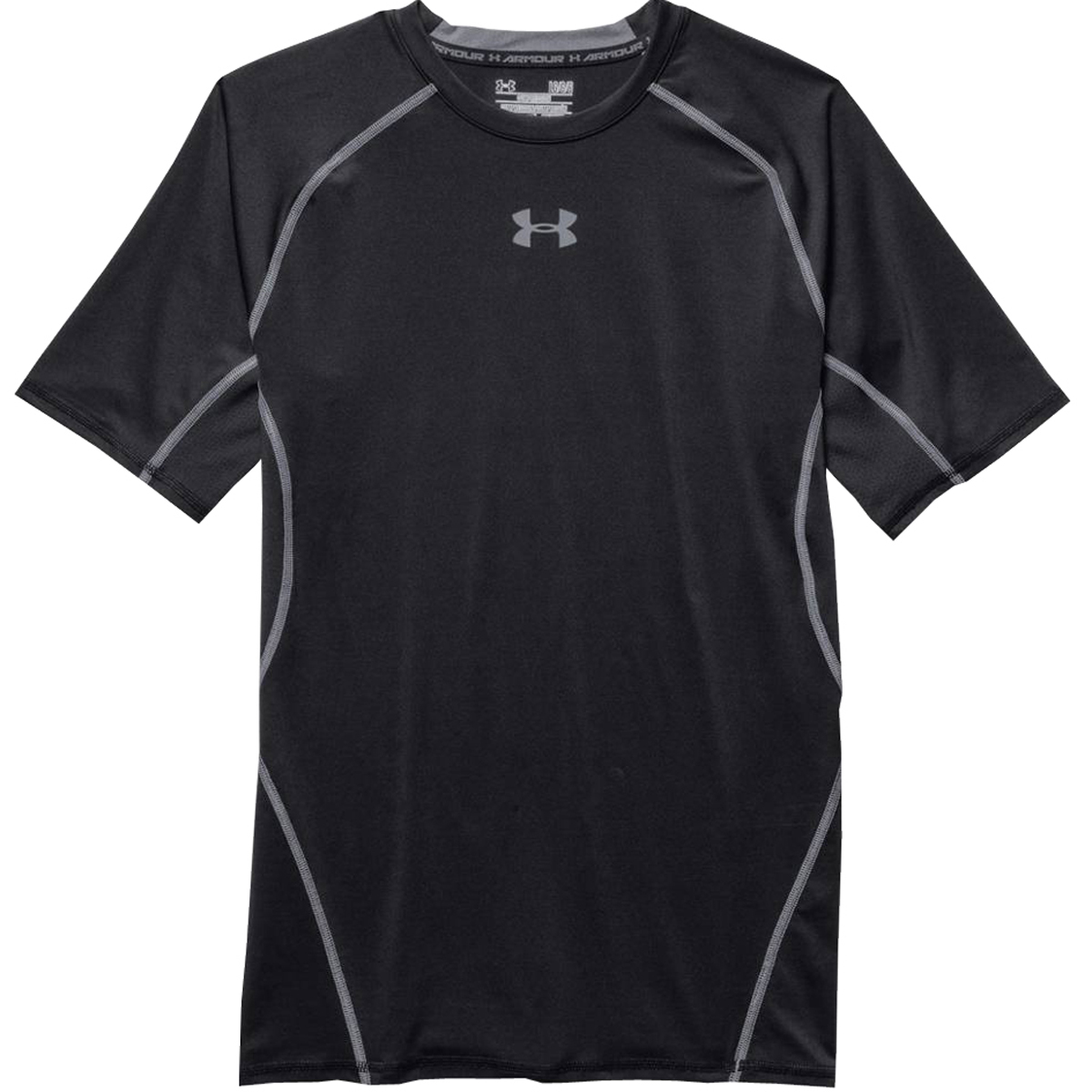 Under armour heatgear men 39 s short sleeve compression shirt for Under armour heatgear white shirt