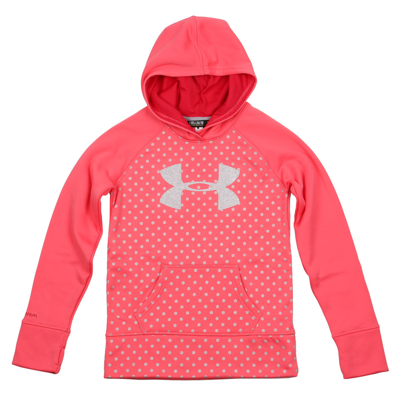 Under armour printed logo yth pullover hoody for Under armor hockey shirt